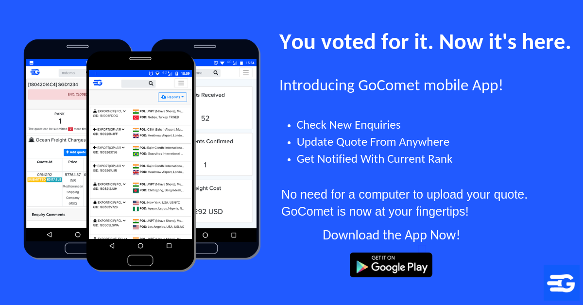 Introducing GoComet Mobile App for Vendors!
